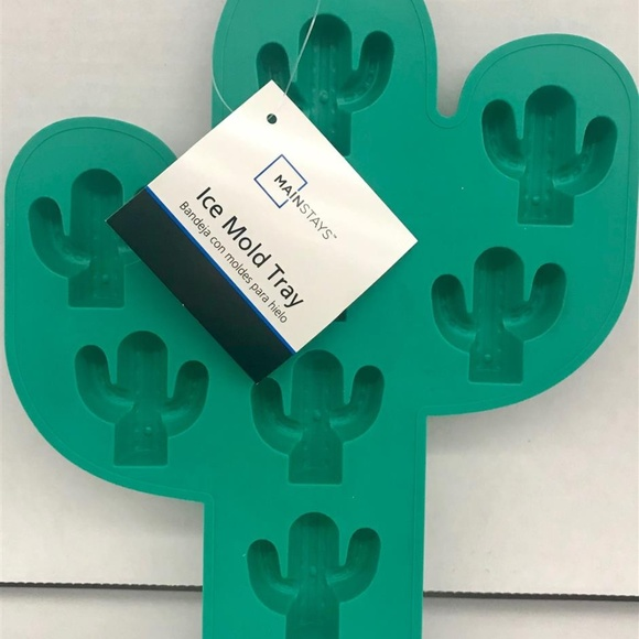 Now Designs Silicone Glass Drying Mat Cactus.Cactus Silicone Tray Green Candy Molds Art Craft Nwt